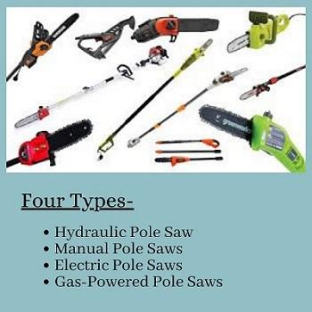 four types of cordless pole saw