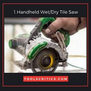Handheld Wet or Dry Tile Saw