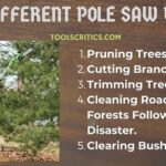 5 different ways of pole saw uses